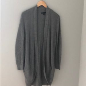 Long gray cardigan. Super comfortable